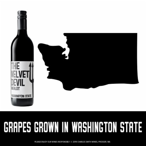 The Velvet Devil by Charles Smith Merlot Red Wine Perspective: right