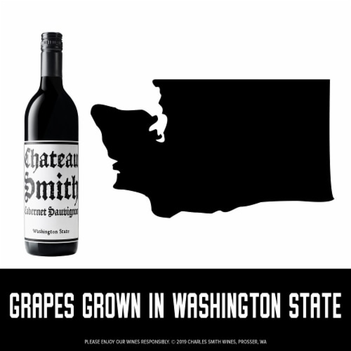 Charles Smith Wines Chateau Smith Cabernet Sauvignon Red Wine Perspective: right
