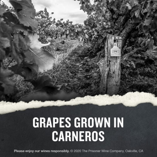 The Prisoner Wine Co. Napa Valley Chardonnay White Wine Perspective: right