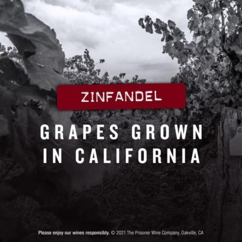 The Prisoner Wine Company Saldo Zinfandel Red Wine Perspective: right