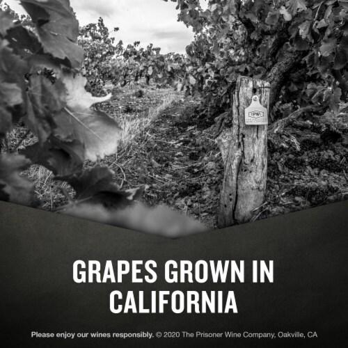 The Prisoner Wine Co. Blindfold California White Wine Perspective: right