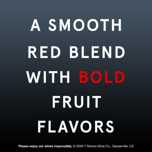 7 Moons Red Blend Red Wine Perspective: right