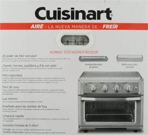 Cuisinart Air Fryer Toaster Oven - Silver Perspective: right