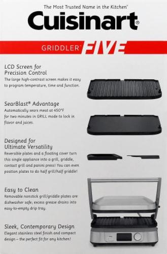 Cuisinart Griddler FIVE - Silver/Black Perspective: right
