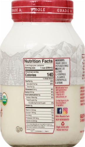 White Mountain Whole Milk Bulgarian Yogurt Perspective: right