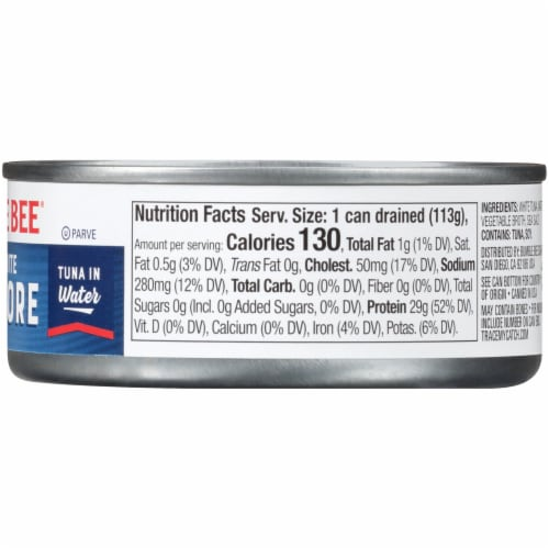 Bumble Bee Solid White Albacore Tuna in Water Perspective: right