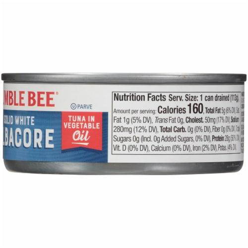 Bumble Bee Solid White Albacore Tuna in Vegetable Oil Perspective: right