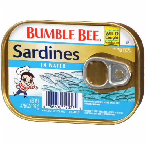 Bumble Bee Sardines in Water Perspective: right