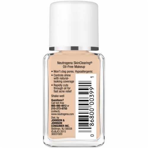 Neutrogena SkinClearing® Fresh Beige Liquid Makeup Perspective: right