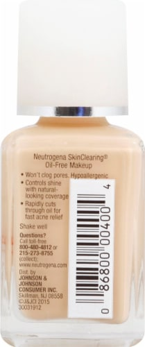 Neutrogena SkinClearing 10 Classic Ivory Oil-Free Makeup Perspective: right