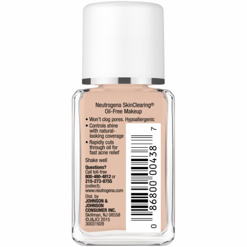 Neutrogena SkinClearing 90 Warm Beige Oil-Free Makeup Perspective: right