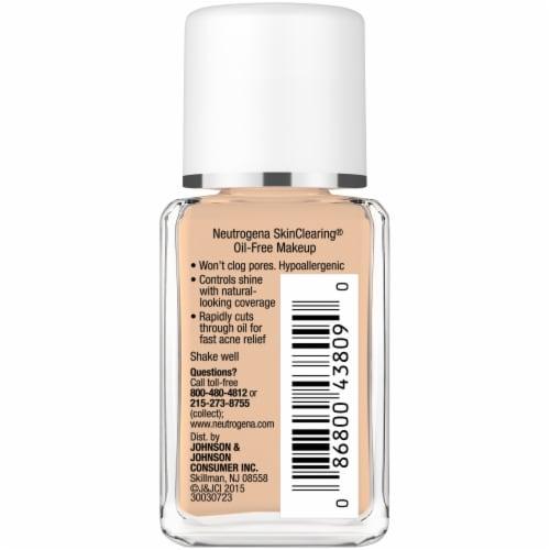 Neutrogena SkinClearing 105 Caramel Blemish Treatment Oil-Free Liquid Makeup Perspective: right