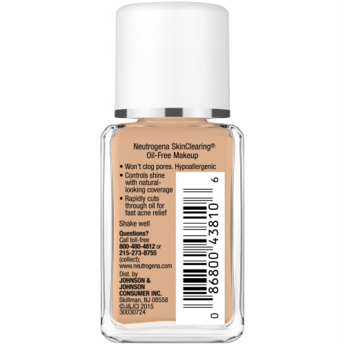 Neutrogena SkinClearing 115 Cocoa Blemish Treatment Makeup Perspective: right