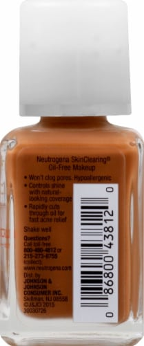 Neutrogena SkinClearing 135 Chesnut Oil-Free Makeup Perspective: right