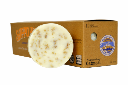 Sappo Hill Oatmeal Glyceryne Creme Fragrance-Free Soap Perspective: right