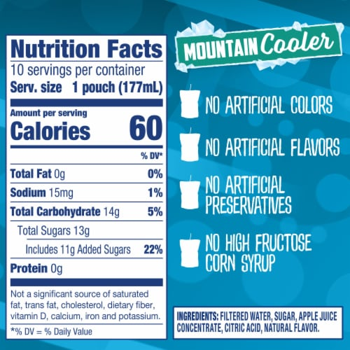 Capri Sun Mountain Cooler Mixed Fruit Flavored Juice Drink Pouches Perspective: right