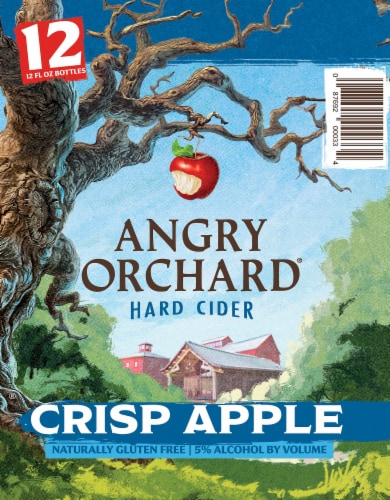 Angry Orchard Crisp Apple Hard Cider Perspective: right
