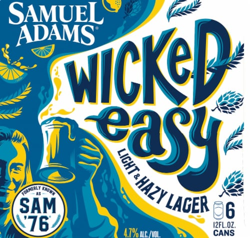 Samuel Adams Wicked Easy Light & Hazy Lager Perspective: right