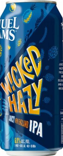 Samuel Adams Wicked Hazy New England IPA Beer Perspective: right