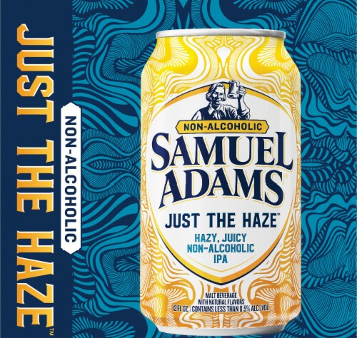 Samuel Adams Just the Haze Non-Alcoholic IPA Perspective: right