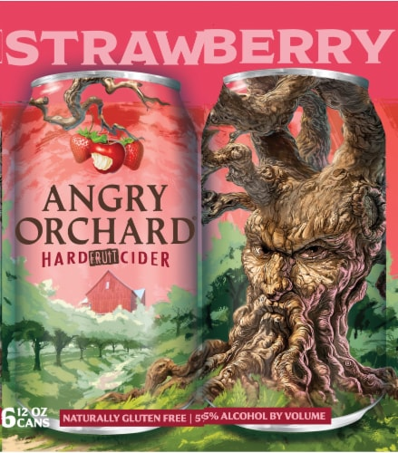 Angry Orchard Strawberry Hard Fruit Cider Perspective: right