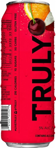 Truly Fruit Punch Hard Seltzer Perspective: right