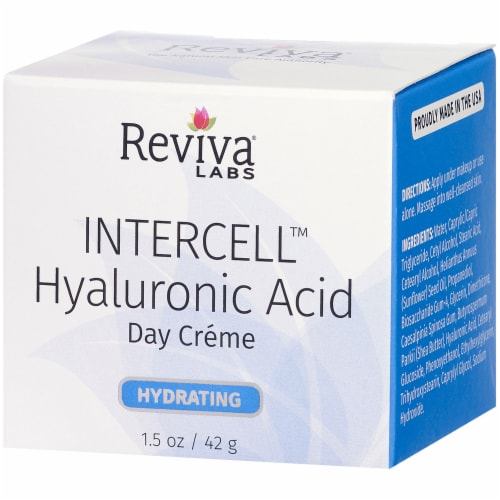 Reviva Labs Hydrating Intercell Hyaluronic Acid Day Creme Perspective: right