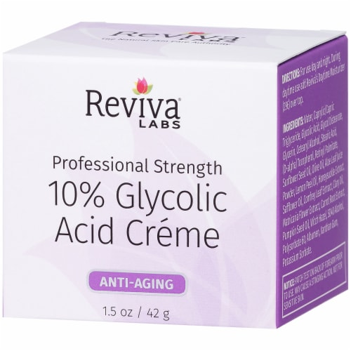 Reviva Labs 10% Glycolic Acid Anti-Aging Crème Perspective: right