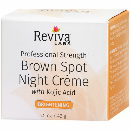 Reviva Labs Brightening Brown Spot Night Creme Perspective: right