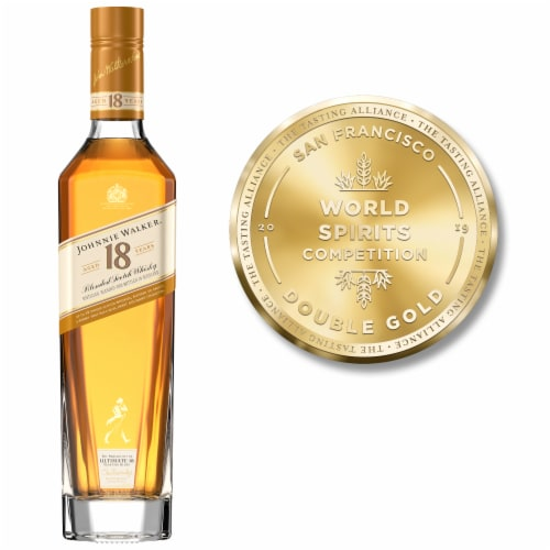 Johnnie Walker Aged 18 Years Blended Scotch Whisky Perspective: right