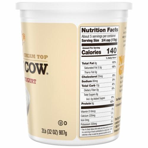 Brown Cow Cream Top Plain Whole Milk Yogurt Perspective: right