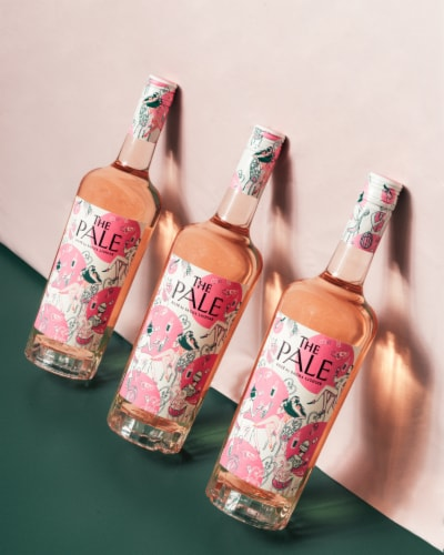 The Pale by Sacha Lichine Rose Wine Perspective: right