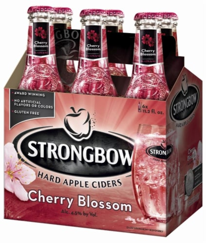 Strongbow Cherry Blossom Hard Apple Cider Perspective: right