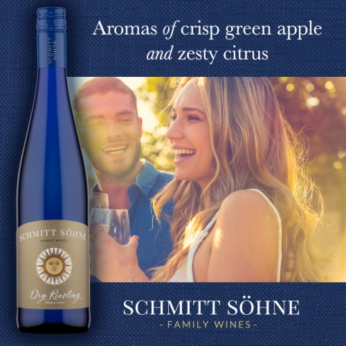 Schmitt Sohne Dry Riesling White Wine Perspective: right