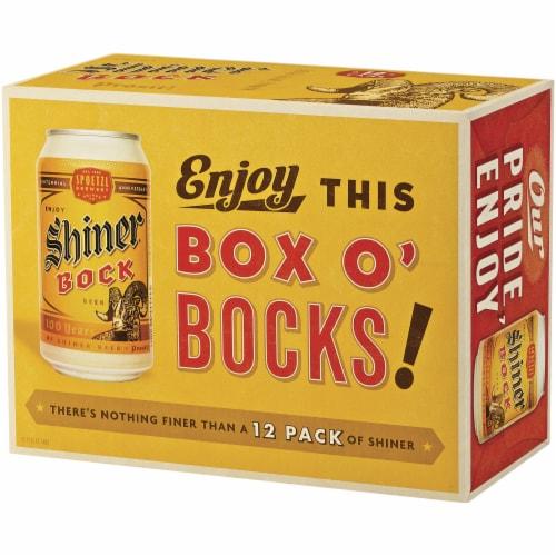 Shiner Bock Box O' Bocks! Beer Perspective: right