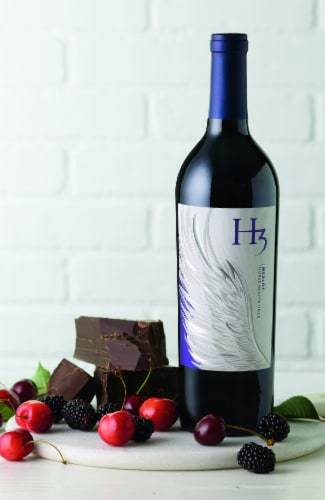 H3 Merlot Red Wine Perspective: right