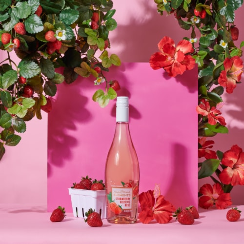 Chateau Ste Michelle Elements Strawberry Hibiscus Rose Wine Perspective: right
