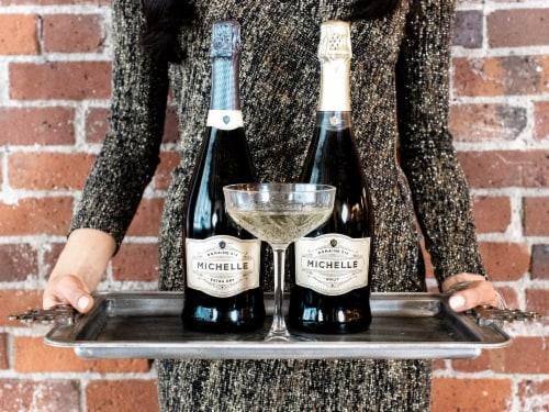 Domaine Ste Michelle Brut Sparkling Wine Perspective: right