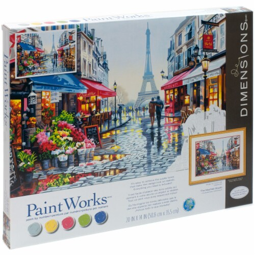 Dimensions® PaintWorks™ Paris Flower Shop Paint by Number Kit Perspective: right