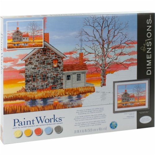 Dimensions® PaintWorks™ Home at Sunset Paint by Number Kit Perspective: right