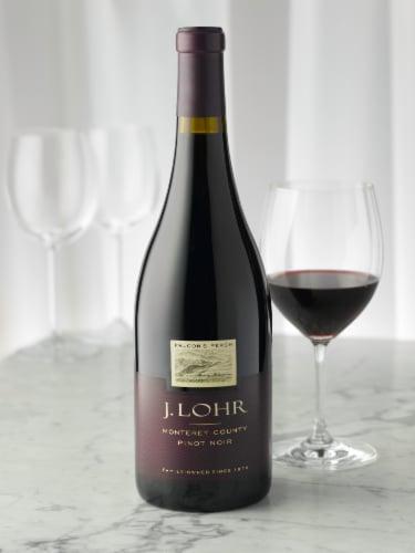 J. Lohr Estates Falcon's Perch Pinot Noir Red Wine Perspective: right