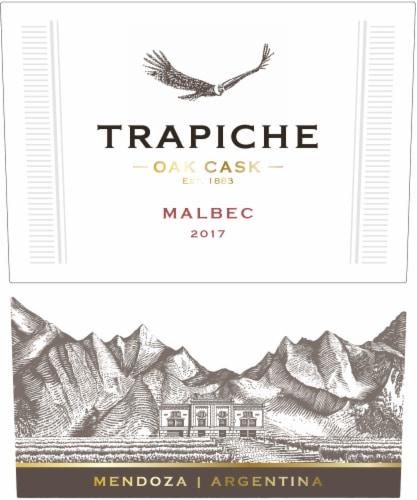 Trapiche Oak Cask Malbec Red Wine Perspective: right