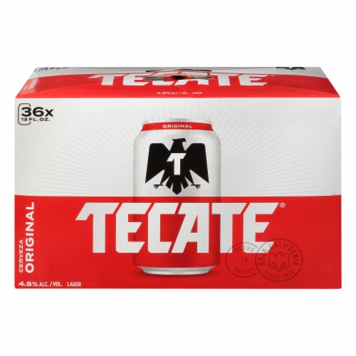 Tecate Cerveza Original Mexican Beer Perspective: right