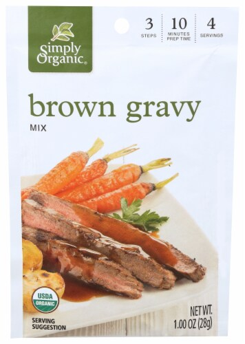 Simply Organic® Roasted Turkey & Brown Gravy Packets Perspective: right