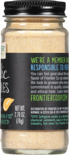 Frontier Garlic Granules Perspective: right
