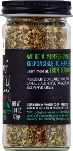 Frontier Herbs Of Italy Salt-Free Blend Perspective: right