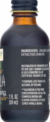 Frontier Organic Non-Alcoholic Vanilla Flavoring Perspective: right