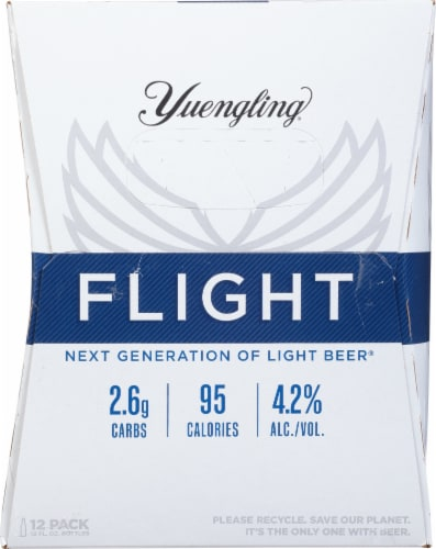 Yuengling® Flight Light Beer Perspective: right