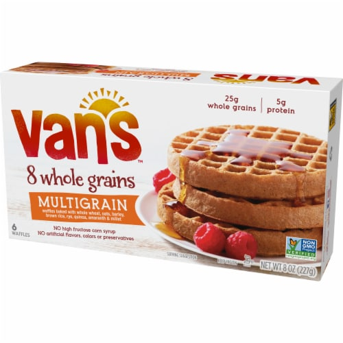 Van's 8 Whole Grains Multigrain Waffles 6 Count Perspective: right
