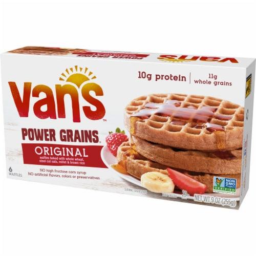 Van's Power Grains Original Waffles 6 Count Perspective: right